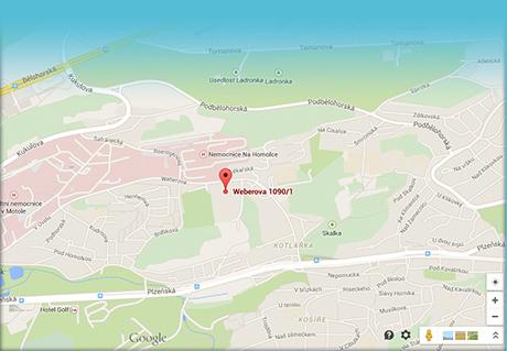 Plavecká škola Weberova mapa